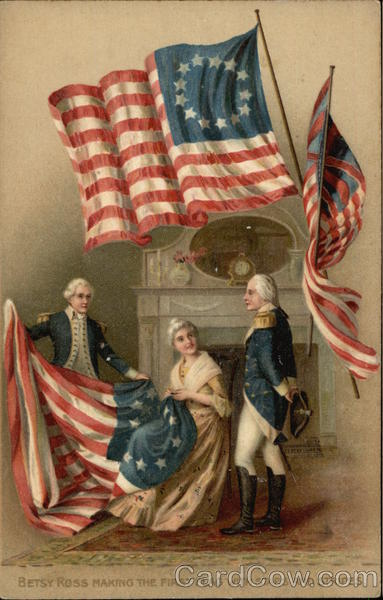 Betsy Ross Making the First Flag with Stars amp Stripes