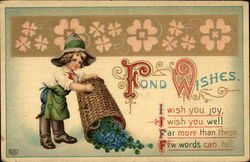Fond Wishes with Boy & Clover Basket