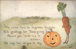 Thanksgiving Greetings from the Vegetable Kingdom