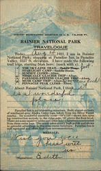 Rainier National Park Travelogue 1921