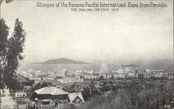 Glimpse of the Panama Pacific International Expo from Presidio