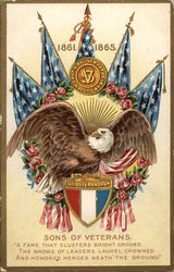 1861-1865 Sons of Veterans with Eagle & Flags