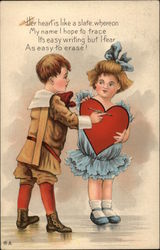 Boy Giving Girl Heart Card