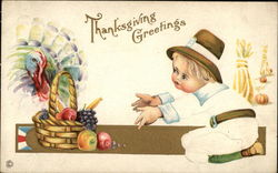 Thanksgiving Greetings with Turkey and Child