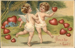 From a True Heart with Cherubs & Hearts