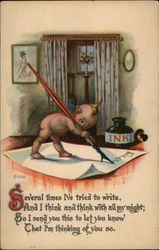 Kewpie Writing Letter, Inkwell