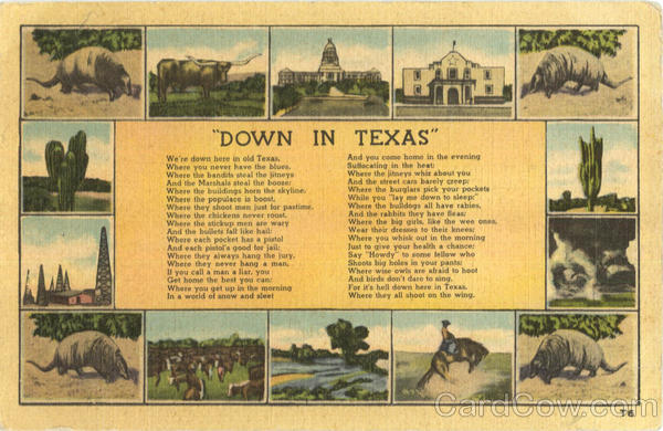 Down In Texas Poems