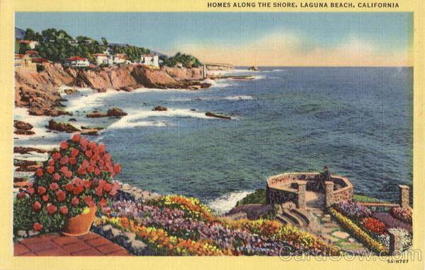 Homes Along The Shore Laguna Beach California
