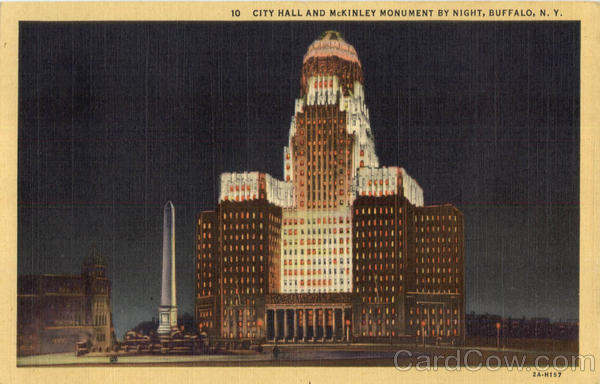 City Hall And Mckinley Monument By Night Buffalo New York