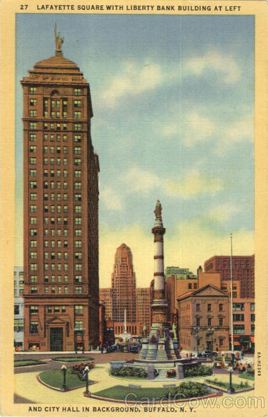 Lafayette Square With Liberty Bank Building Buffalo New York