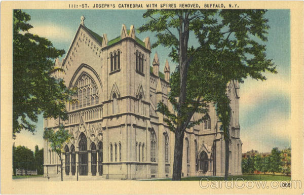 Joseph's Cathedral With Spires Removed Buffalo New York