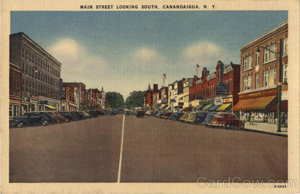 Main Street Looking South Canandaigua New York