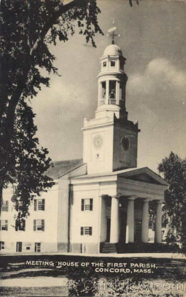 Meeting House Of The First Parish Concord Massachusetts