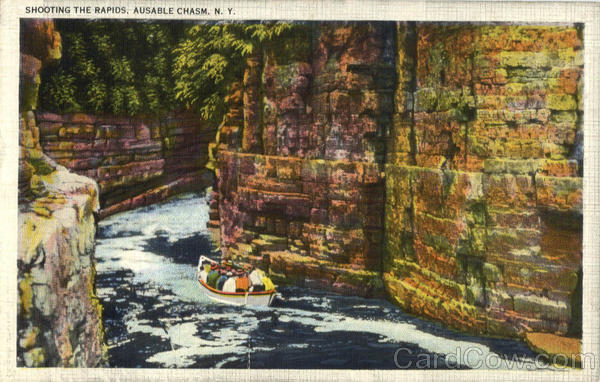 Shooting The Rapids Ausable Chasm New York