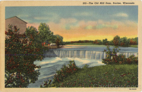 The Old Mill Dam Racine Wisconsin
