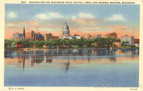Madison And The Wisconsin State Capitol, Lake Monona