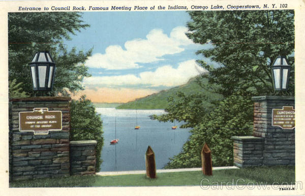 Entrance To Council Rock, Otsego Lake Cooperstown New York
