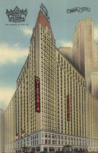 Hotel Victoria, 51st Street, 7th Avenue New York City