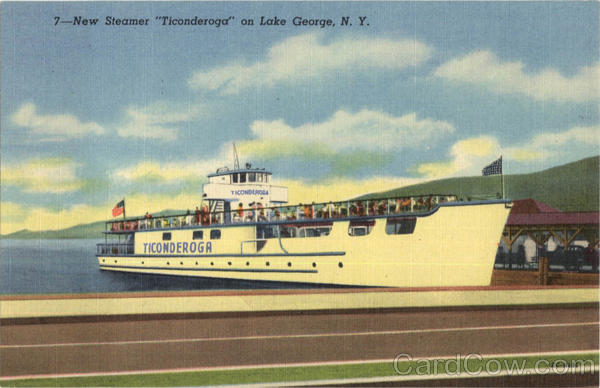 New Steamer Ticonderoga, Lake George NY Boats, Ships