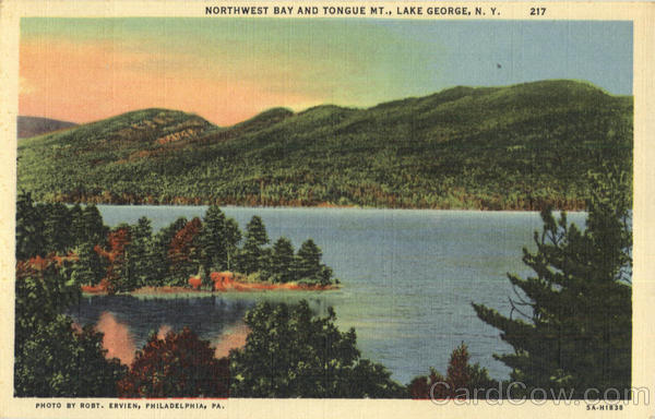 Northwest Bay And Tongue Mt. Lake George New York