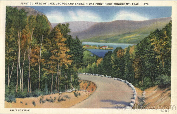 First Glimpse Of Lake Geeorge Lake George New York