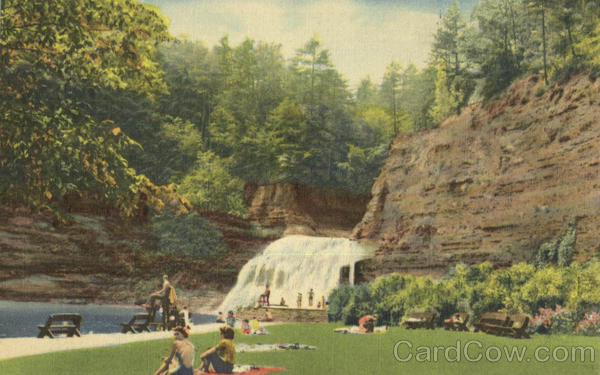 Swimming Pool And Falls, Robert H. Treman State Park Finger Lakes New York