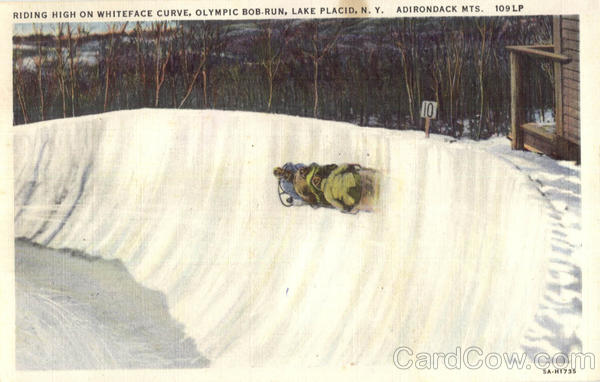 Olympic Bobsled Run Riding High On Whiteface Curve Lake Placid New York