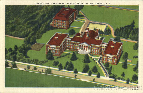 Oswego State Teachers College From The Air New York
