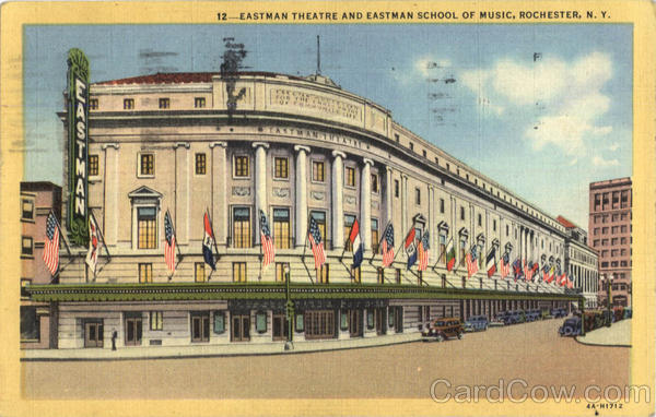 Eastman Theatre And Eastman School Of Music Rochester New York