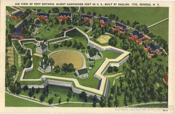 Air View Of Fort Ontario Oswego New York