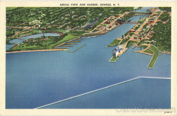 Aerial View And Harbor Oswego New York