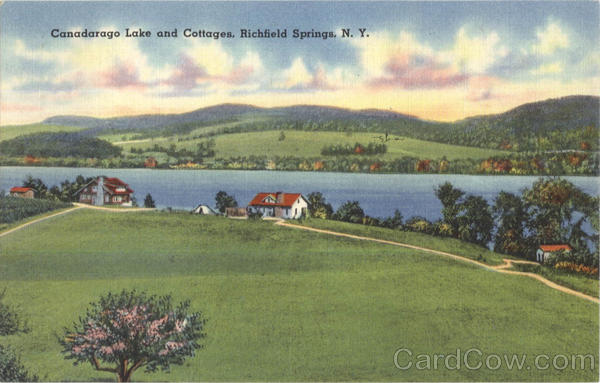 Canadarago Lake And Cotttages Richfield Springs New York
