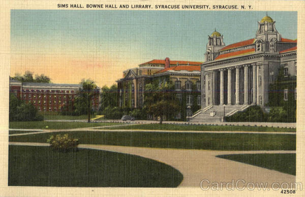 Sims Hall Bowne Hall And Library, Syracuse University New York