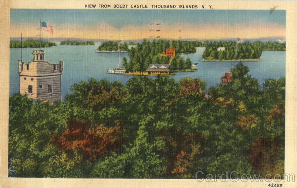 View From Boldt Castle Thousand Islands New York