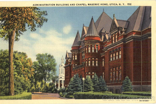 Administration Building And Chapel, Masonic Home Utica New York