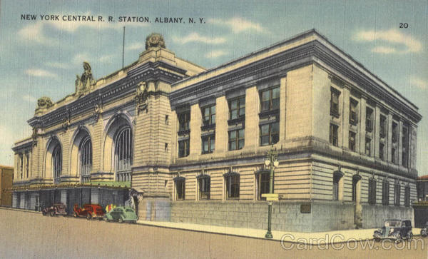 New York Central R. R. Station Albany
