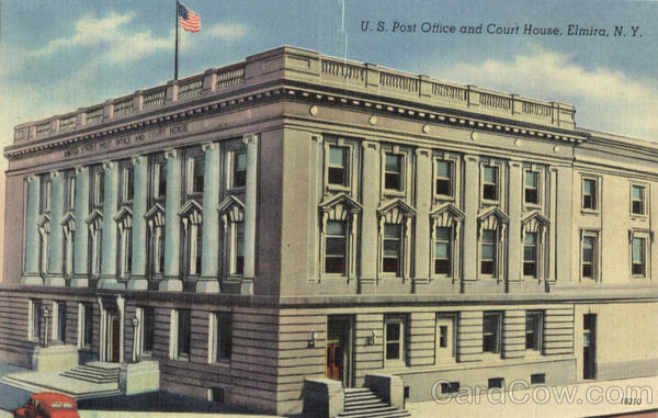 U. S. Post Office And Court House Elmira New York