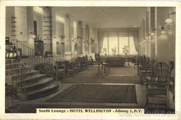 Hotel Wellington, South Lounge Albany New York