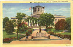 State Capitol And Mckinley Memorial