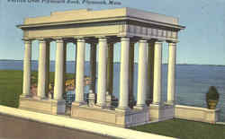 Portico Over Plymouth Rock