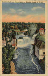 Rainbow Falls And Power House Postcard