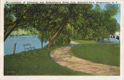 Junction Of Chenango And Susquehanna River From Memorial Park Postcard