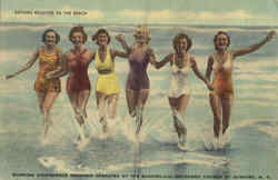 Bathing Beauties On The Beach