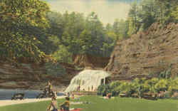 Swimming Pool And Falls, Robert H. Treman State Park