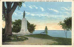 Champlain Statue On Lake Champlain