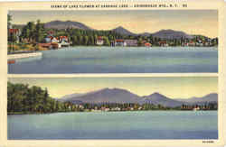 Views Of Lake Flower, Saranac Lake