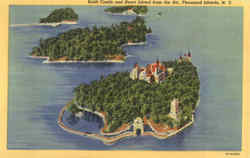 Boldt Castle And Heart Island From The Air