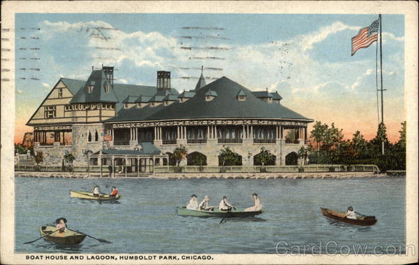 Boat House and Lagoon, Humboldt Park Chicago Illinois