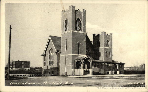 View of United Church Red Deer Canada Alberta