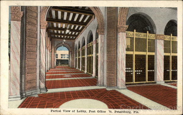 Post Office - Lobby St. Petersburg Florida